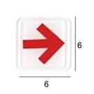 RE-612 箭頭 紅 6x6cm 壓克力標示牌/指標/標語 附背膠可貼