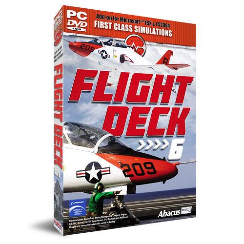 【軟體採Go網】PCGAME-模擬飛行X / 模擬飛行2004-飛行甲板6 Flight Deck 6 盒裝完整版