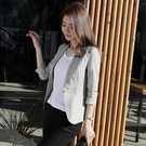 西装外套 棉麻小西裝外套女短款2020夏季新款韓版修身七分袖休閒小西服薄款