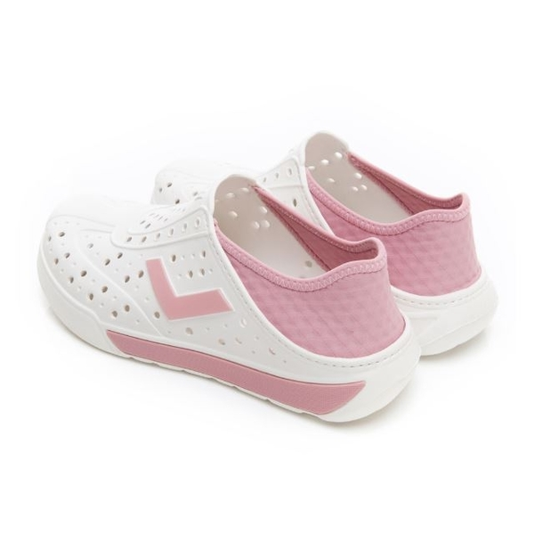 PONY 中性款洞洞水鞋白粉-NO.92U1SA02PK