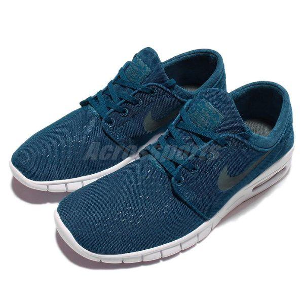 【五折特賣】Nike 滑板鞋 Stefan Janoski Max 藍 白 氣墊 男鞋 休閒鞋【PUMP306】 631303-301