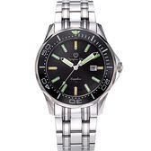 Olympia Star 奧林比亞之星 神盾系列極限氚氣石英腕錶-黑
