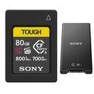【震博】Sony CEA-G80T記憶卡+MRW-G2專用讀卡機 (公司貨) 適用於A7SIII/ A1/ A9M2,送 PD聯名手腕帶