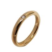Tiffany & Co 蒂芬妮 Elsa Peretti系列鑲嵌單鑽18K金戒指 9.5號 K18YG【BRAND OFF】