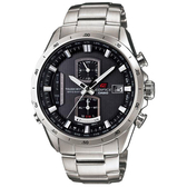 CASIO EDIFICE系列 終極元素太陽能電波運動錶(鋼帶-銀)