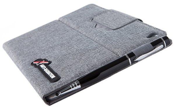 X iPAD Pro SLEEVE   防電磁波可立式潑水平板保護套 (織布紋洗練灰)