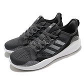 adidas 慢跑鞋 Fluidflow 2.0 黑 白 輕量鞋面 針織 愛迪達 運動鞋 男鞋 【ACS】 FZ1983
