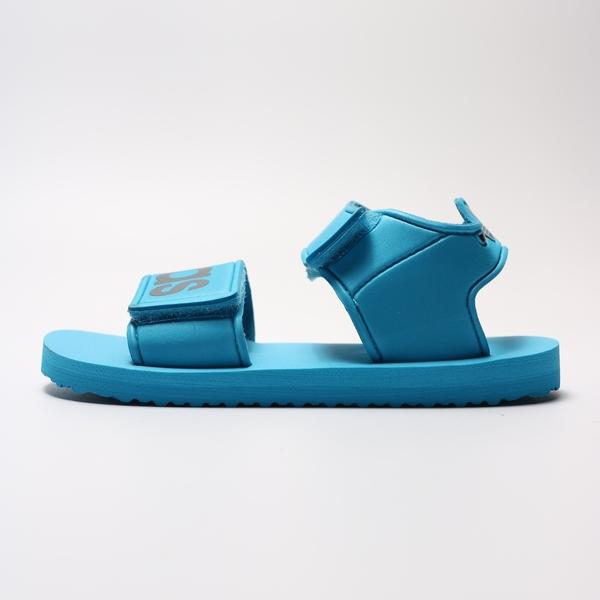 ADIDAS BEACH SANDAL I  藍 黑 魔鬼氈 快乾 可調式 涼鞋 小童(布魯克林) 2019/5月 CG6603