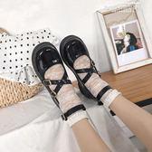 娃娃鞋英倫百搭學生平底圓頭單鞋女洛麗塔lolita小皮鞋娃娃鞋 【6月特惠】