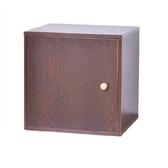 自由組合式收納置物櫃-方形箱(棕色)