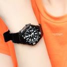 CASIO卡西歐 黑色小巧休閒運動腕錶 個性百搭手錶 膠錶【NEC66】