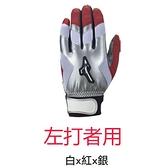 [1111 活動]MIZUNO 美津濃 棒球 左打者 打擊手套 1ETEA66301 白x紅x銀 [陽光樂活]