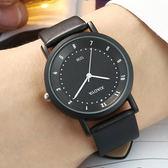 正韓潮流時尚手錶男學生正韓簡約復古皮帶女錶石英錶情侶手錶一對【萬聖節88折