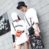 原創潮牌背包迷你斜挎小包單肩包嘻哈包手機包腰包蹦迪包 QQ3540『樂愛居家館』