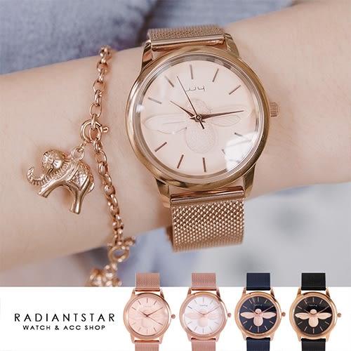 韓國WEIYA招蜂引蝶立體蜜蜂金屬米蘭鍊帶手錶【WWY166】璀璨之星☆
