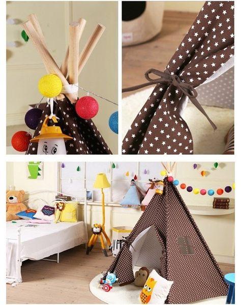 【發現。好貨】韓國咖啡星星純棉寶寶帳篷 寶寶嬰兒遊戲屋 野餐帳篷 野餐墊 兒童拍攝道具