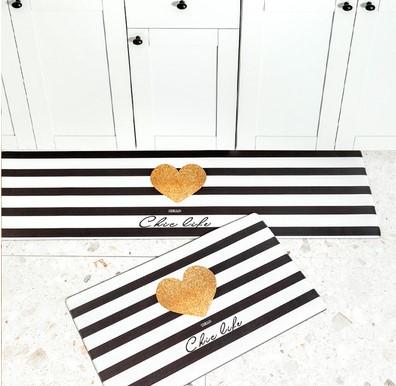 時尚創意地墊207A 廚房浴室衛生間臥室床邊門廳 吸水長條防滑地毯(45*75cm)
