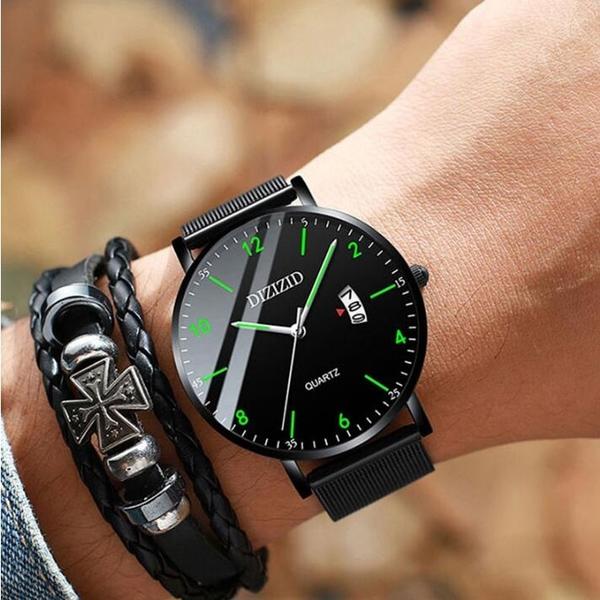 【快出】黑科技手錶男機械錶初中高中學生男孩潮流夜光防水運動電子石英錶
