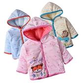 寶寶套裝 卡通老虎 鋪棉連帽外套 加厚天鵝絨 夾克 保暖嬰兒外套 LZ1409