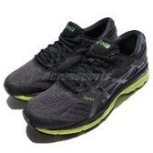 【五折特賣】Asics 慢跑鞋 Gel-Kayano 24 黑 綠 透氣穩定 運動鞋 男鞋【PUMP306】 T749N9085