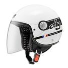 【東門城】ASTONE AJ-AW15(白/黑) 3/4半罩式安全帽