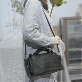 真皮側背包-休閒純色羊皮水餃包女手提包2色73yq42【時尚巴黎】