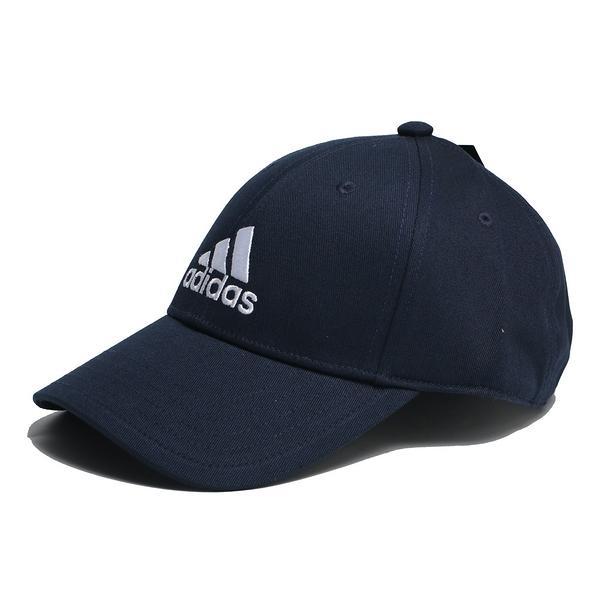 ADIDAS 丈青 深藍 刺繡黑 三線 老帽 基本款 (布魯克林) FQ5270