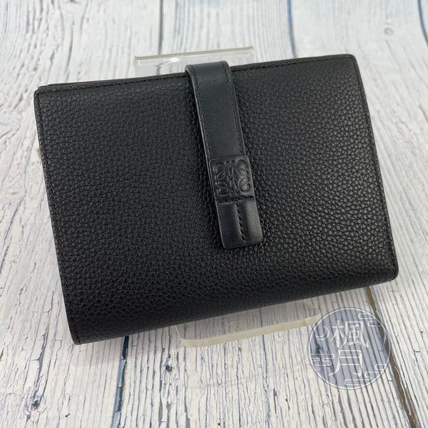 BRAND楓月 LOEWE 羅意威 黑色 皮革 中夾 錢包 VERTICAL MEDIUM 原價NT.25000