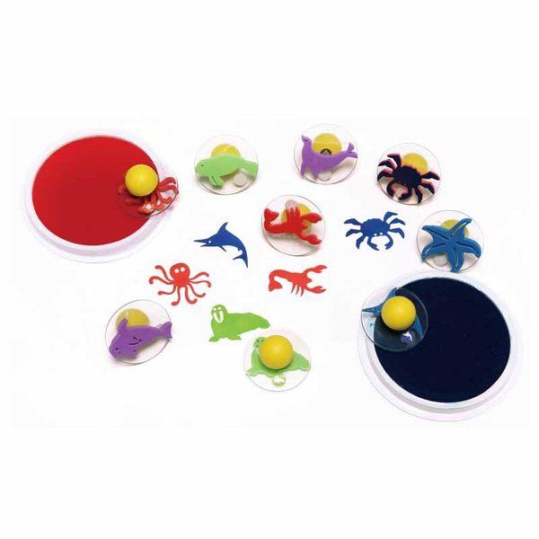 海底派對大印章 兒童幼兒教具教學道具彩繪著色畫圖用具親子同樂綜合活動藝術與人文