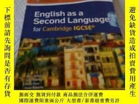 二手書博民逛書店English罕見as a Second Language for Cambridge lGCSE【帶光盤一張】內