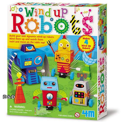 《4M美勞創作》機器人樂園 Wind Up Robots ╭★ JOYBUS玩具百貨