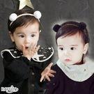 新款 雙色 雙球 可愛百搭 韓版 兒童髮帶寶寶髮飾