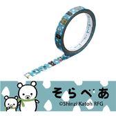 Shinzi Katoh 加藤真治 OPP裝飾膠帶15mm(環保白熊)★funbox生活用品★_ZI01131