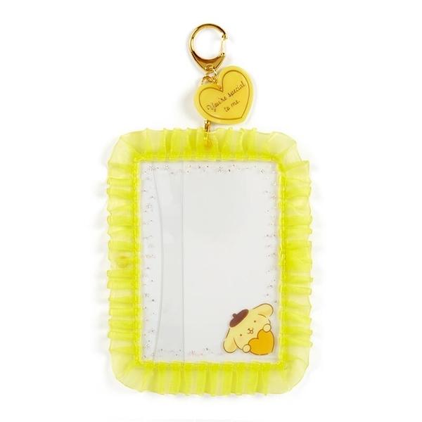 小禮堂 布丁狗 蕾絲邊框相框鑰匙圈 透明相框 相框吊飾 相片架 (黃 演唱會粉絲收納) 4550337-45250