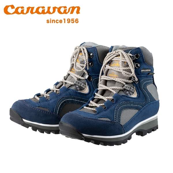 日本【Caravan】 GK86 女款防水高筒登山鞋 海軍藍