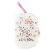 小禮堂 Hello Kitty 沐浴澡棉 洗臉海綿 洗澡海棉 潔顏海棉 搓澡巾 (白 愛心圍繞) 5712977-10956