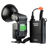 Godox AD360TTL-C Canon相容E-TTL 閃光燈套件:AD360TTL+PB960快速回電電瓶+連接線+標準反射罩+柔光片