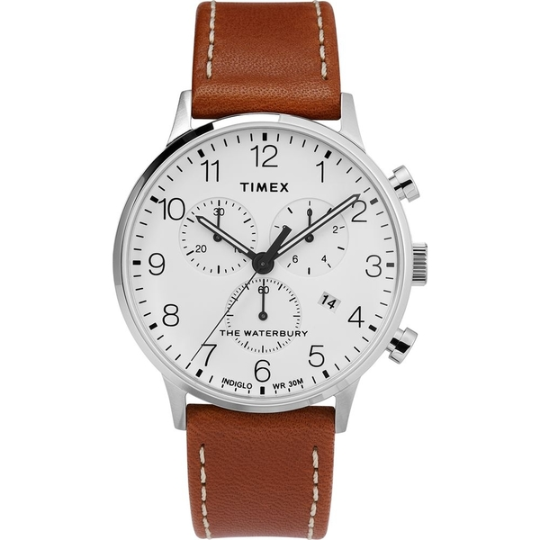 【TIMEX】天美時 復刻系列 經典復古手錶  (棕/白TXTW2T28000)
