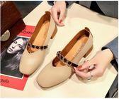 現貨出清 鞋子女百搭韓版學生夏豆豆鞋女平底單鞋女春季休閒奶奶鞋  2-13 YXS