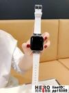 iwatch1/2/3代apple watch錶帶真皮水鉆金屬扣【邦邦男裝】