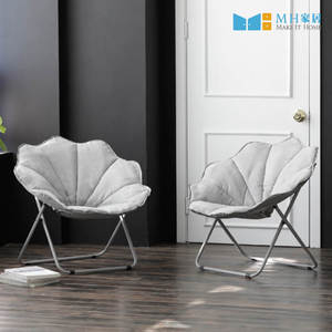 【MH家居】躺椅 摺疊椅 休閒椅 韓國月亮椅灰色