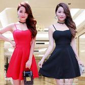 夏季女裝韓版後背綁蝴蝶結露背無袖小洋裝洋裝擺裙裙子 可可鞋櫃