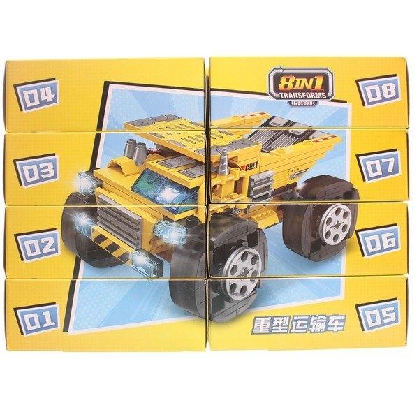啟蒙積木 1806 工程車積木(一套)/一套8款入(促50) 可合體 重型運輸車 工程車系列積木-鑫