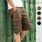 大尺碼短褲 街頭風格‧側邊立體口袋設計造...