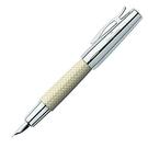 Faber-Castell E-MOTION系列鑲木紋鋼筆 (象牙白)