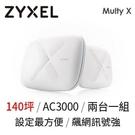全新 Zyxel Multy X AC3000 三頻無線延伸 MESH 全覆蓋系統 WSQ50(2入裝)