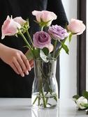 花瓶 創意簡約玻璃花瓶透明北歐ins風水培植物鮮花桌面插花瓶 擺件客廳 ATF poly girl