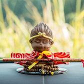 齊天大圣孫悟空猴子創意汽車擺件可愛飾品猴子車載擺件車內裝飾品