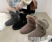 雪地靴女 雪地靴女冬季棉鞋女士加厚保暖防滑鞋水鉆兔加絨韓版女棉靴子 快速出货