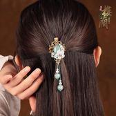 古風古典小清新發夾復古發飾頭飾品流蘇發卡中國風成人邊夾夾子女「韓風物語」
